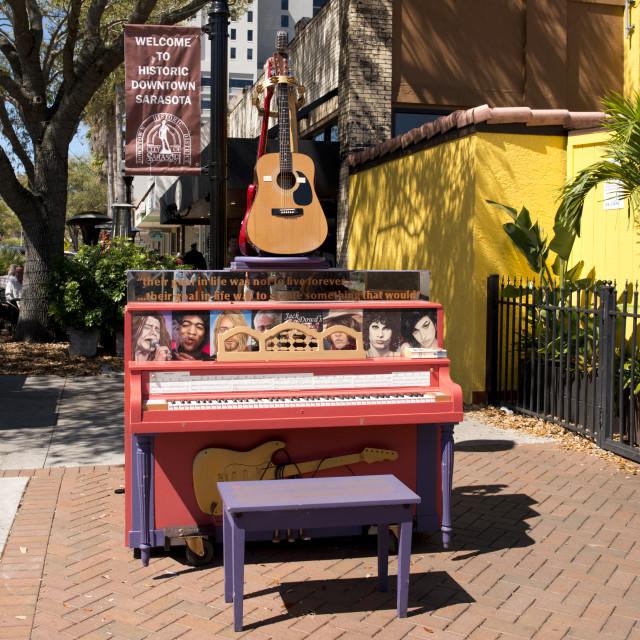 """Piano Project public art Sarasota, Florida"" stock image"