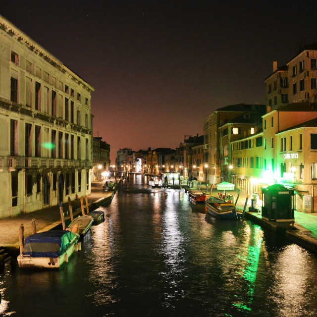 """Venice - Night"" stock image"
