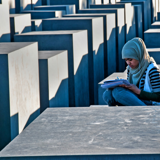 """HOLOCAUST MONUMENT BERLIN"" stock image"