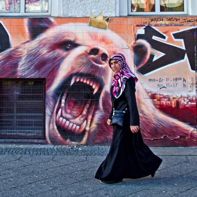 """BERLIN STREET SCENE"" stock image"