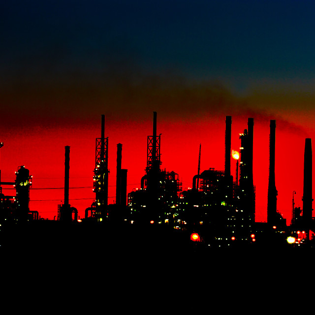 """Industrial Sunset"" stock image"