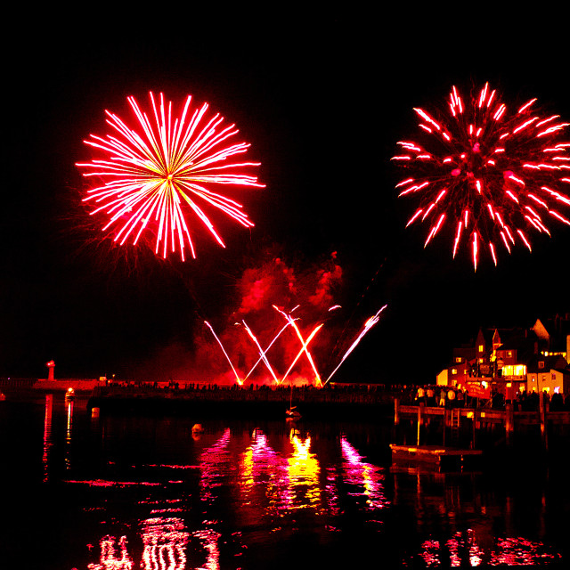 """Whitby Fireworks"" stock image"