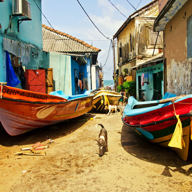 """FISHING VILLAGE"" stock image"