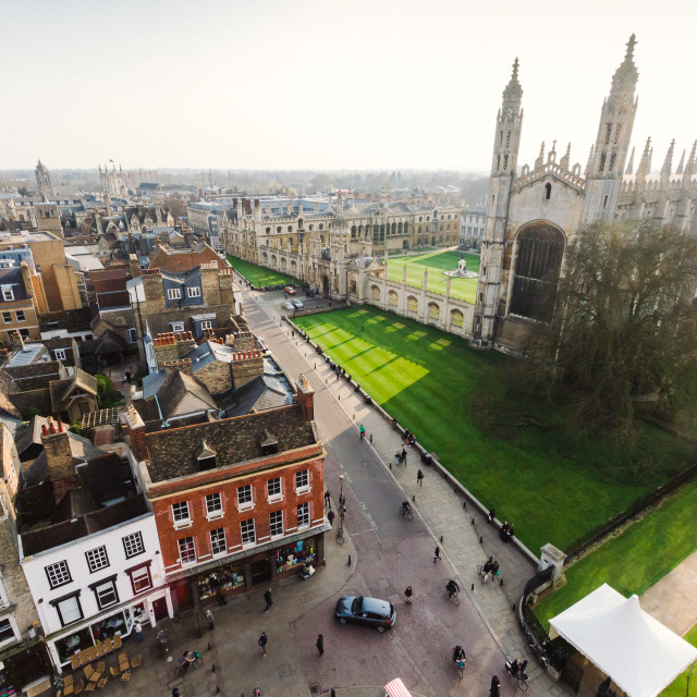 """A view of King's College Chapel, Cambridge"" stock image"