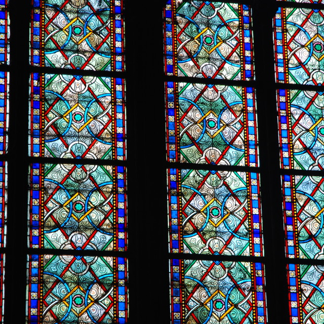 """Windows of Notre Dame"" stock image"