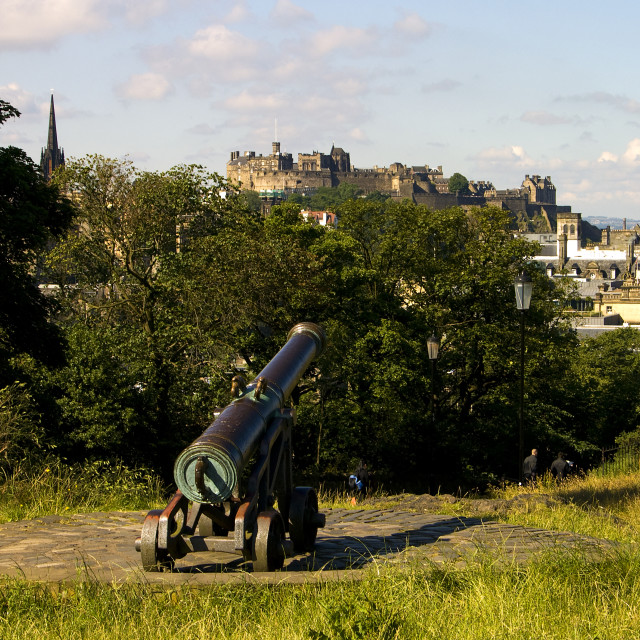 """""""Cannon to castle"""" stock image"""