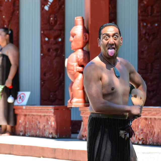 """""""Maori man"""" stock image"""