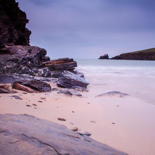 """Trevone Bay, Cornwall"" stock image"