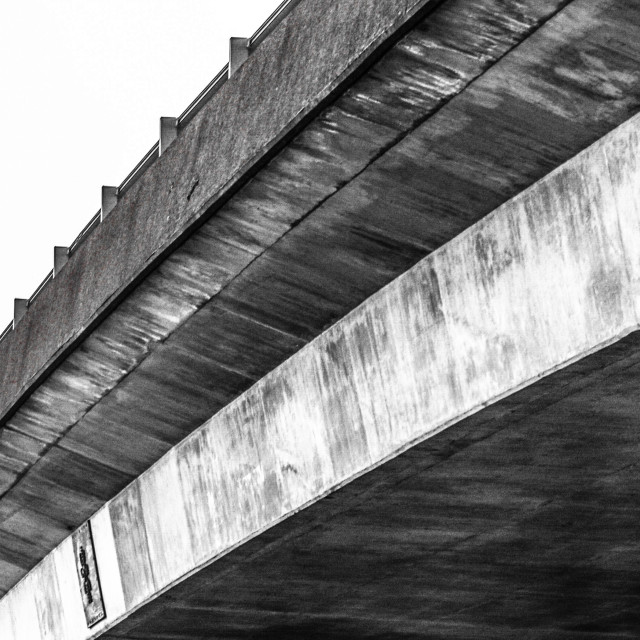 """""""Under the flyover"""" stock image"""