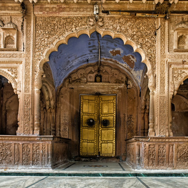 """""""TEMPLE ENTRANCE"""" stock image"""