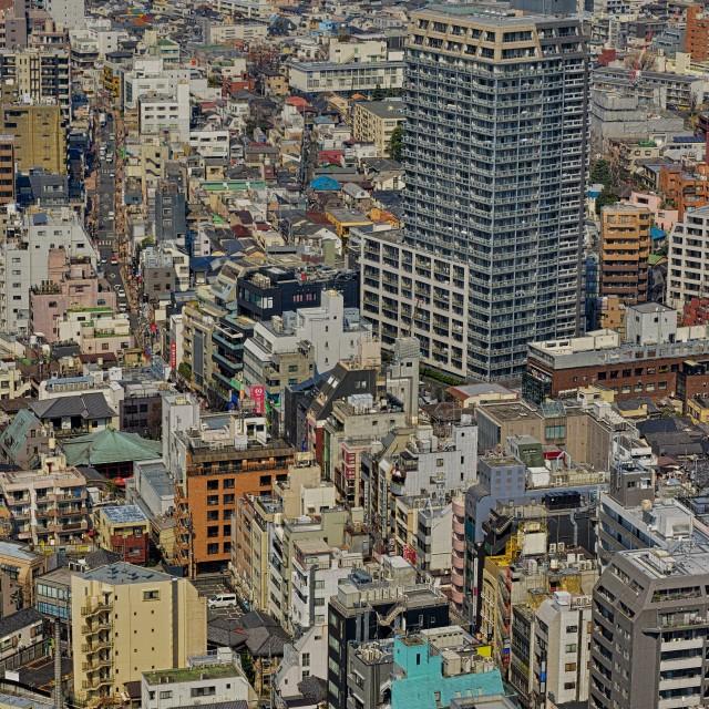 """Tokyo Building density"" stock image"
