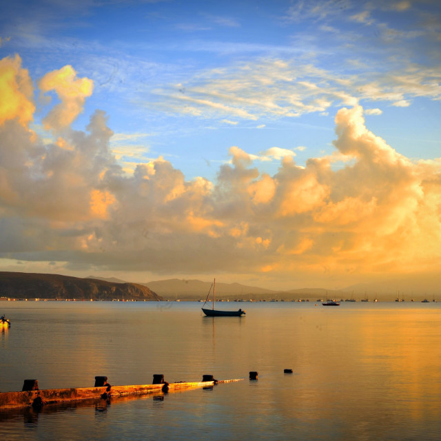 """""""Early Morning Abersoch"""" stock image"""