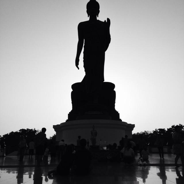 """The big Buddha"" stock image"