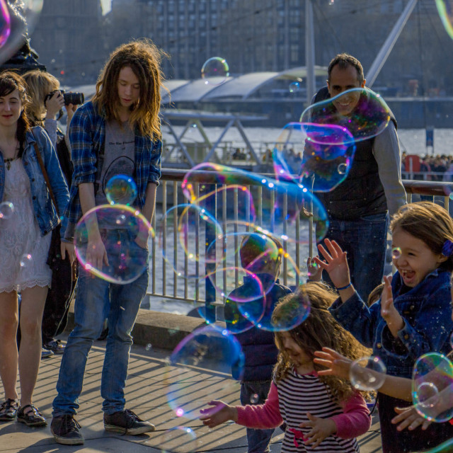 """Southbank Bubbles"" stock image"