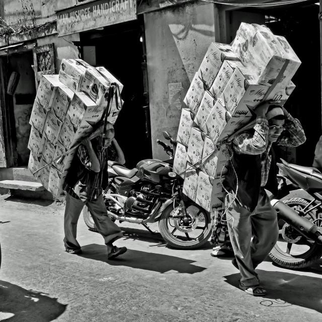 """KATHMANDU SHERPAS"" stock image"