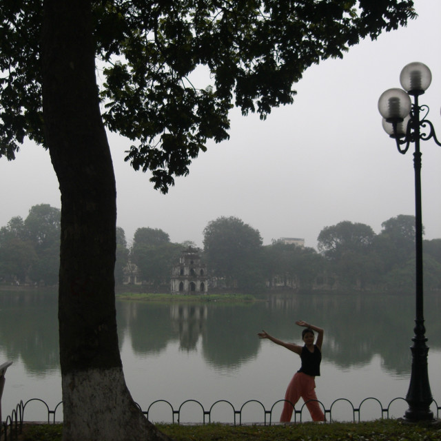 """Hanoi reflection"" stock image"