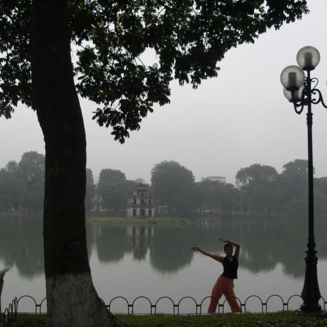 """""""Hanoi reflection"""" stock image"""