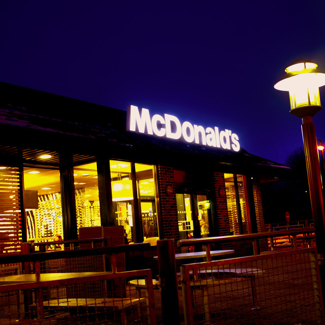 """McDonald's Night Shot"" stock image"