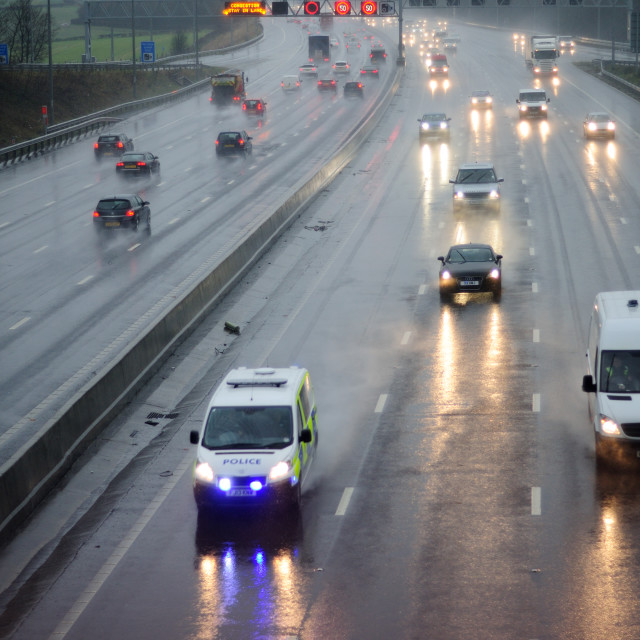 """""""M1 Motorway UK."""" stock image"""