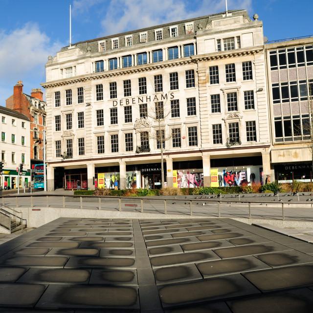 """Nottingham City Center,UK."" stock image"