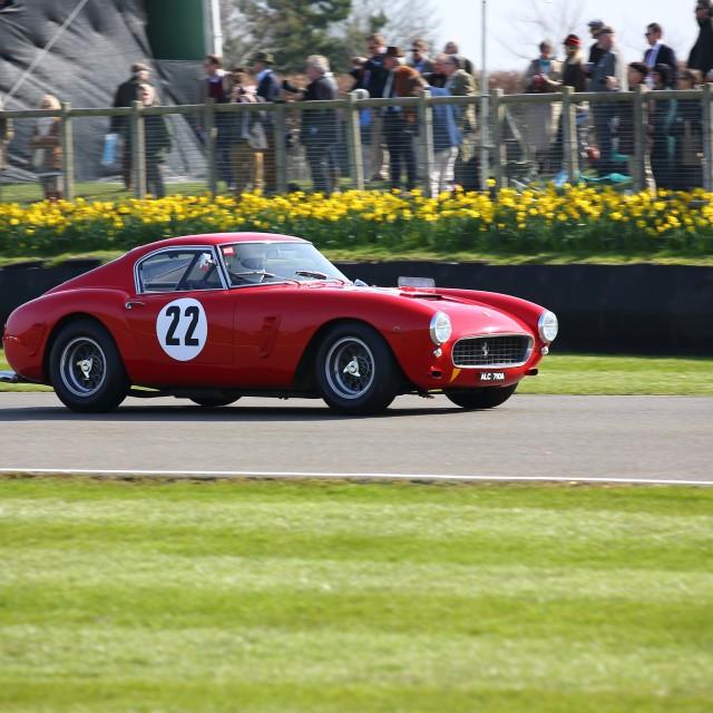 """Goodwood Ferrari"" stock image"