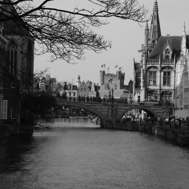 """Ghent Canal..."" stock image"