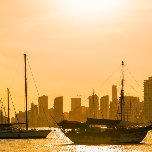 """Boats and Skyscrapers"" stock image"