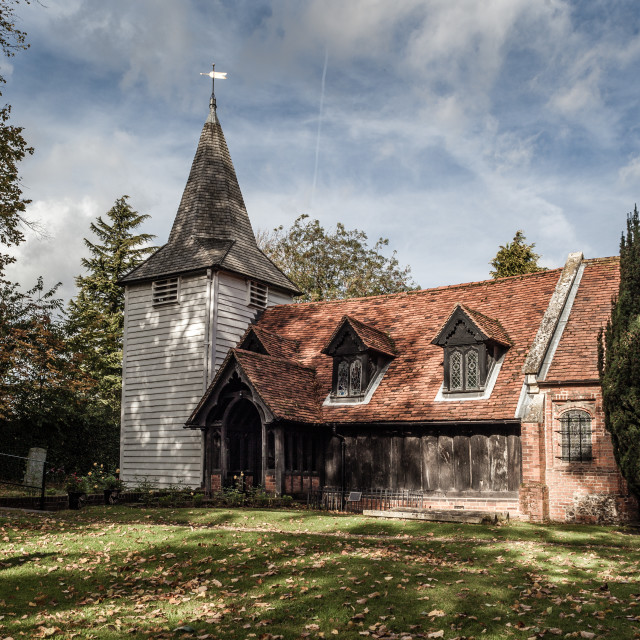"""""""The Wooden Church"""" stock image"""