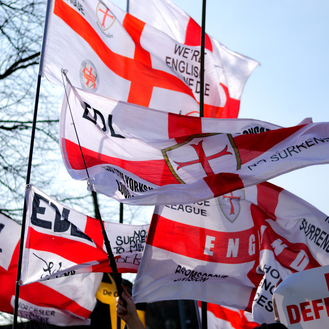 """EDL And English Flags."" stock image"