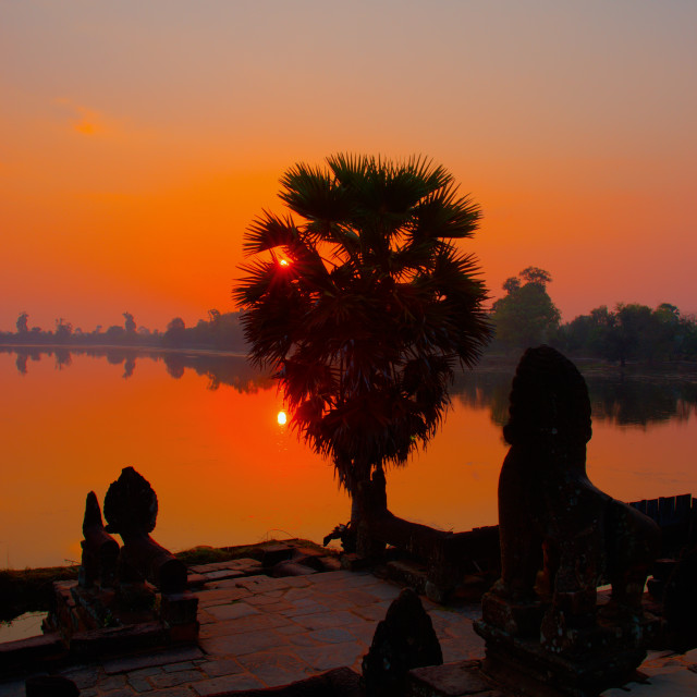 """Srah Srang Sunrise"" stock image"