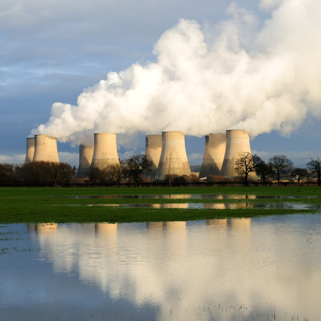 """Ratcliffe-On-Soar Power Station."" stock image"