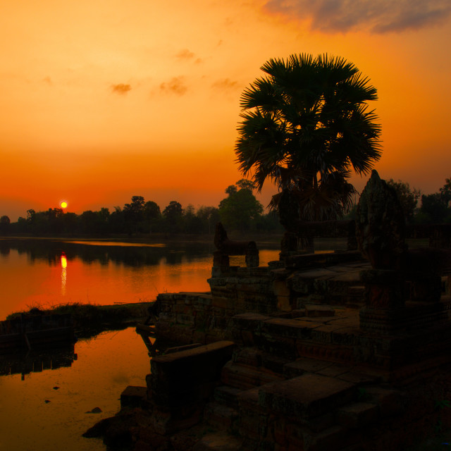 """Srah Srang Sunrise 2"" stock image"