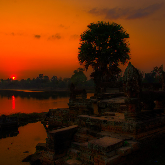 """Srah Srang Sunrise 3"" stock image"