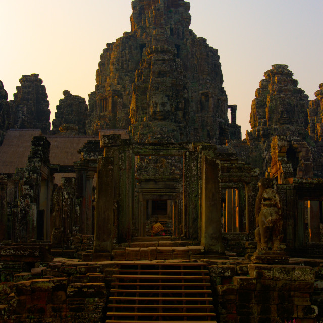 """Dawn at Bayon"" stock image"
