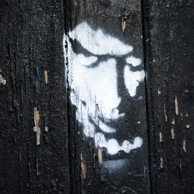 """Graffiti Face Portrait ."" stock image"