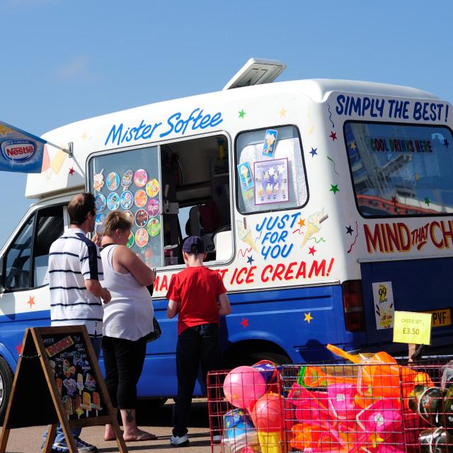 """Ice-cream Van Skegness,Lincolnshire,UK."" stock image"