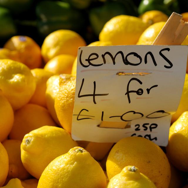 """Lemons ."" stock image"