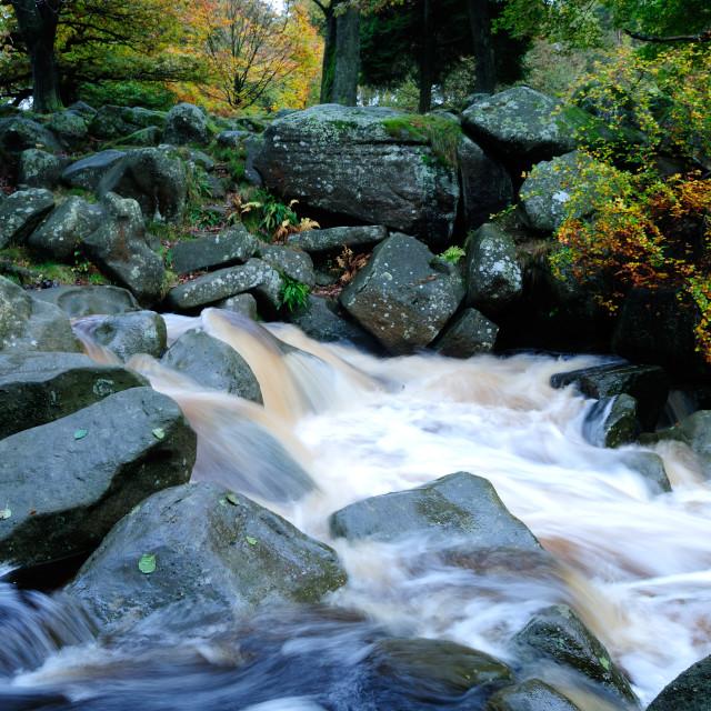 """Padley Gorge,Peak District,UK."" stock image"