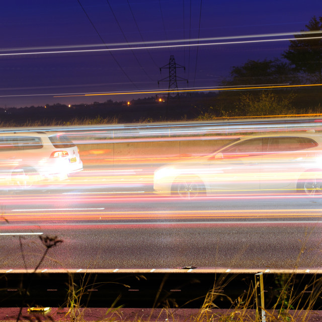 """Night Traffic."" stock image"