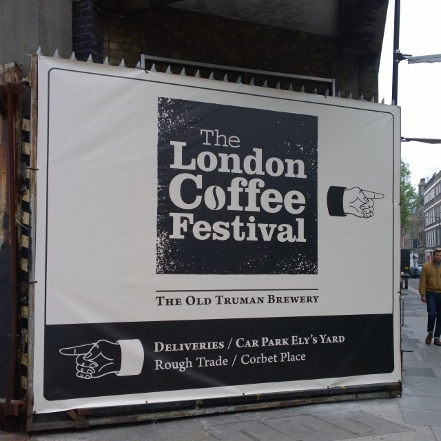 """London Coffee Festival 2014 - Entrance with logo"" stock image"