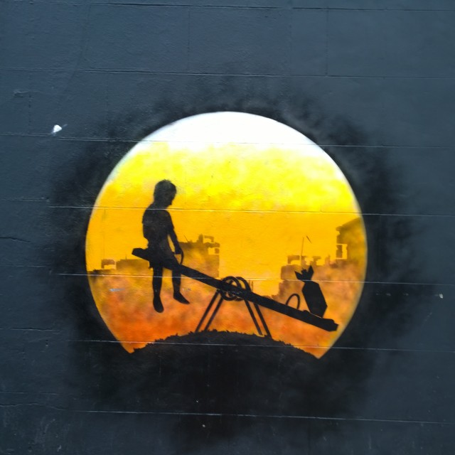"""Street Art in Shoreditch / Spitalfields"" stock image"