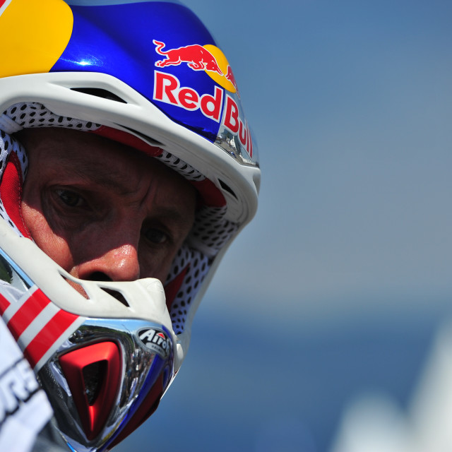 """Chris Pfeiffer, 4 times World Champion Motorrad Stunt Rider"" stock image"
