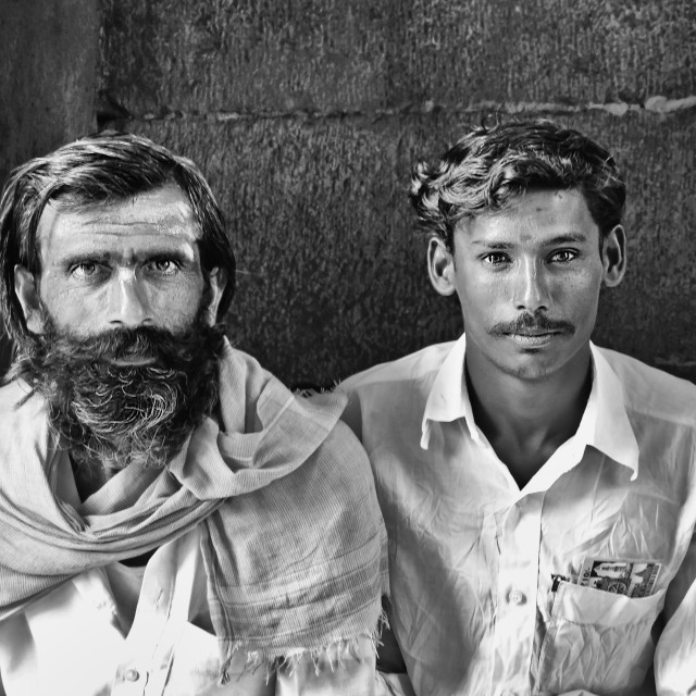 """HAMPI FARMERS"" stock image"