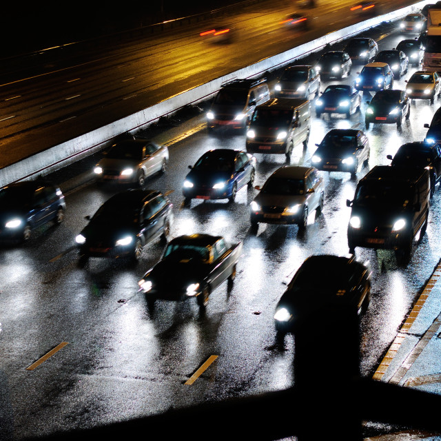 """Night Traffic."" stock image"