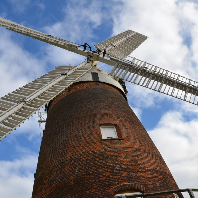 """Thaxted windmill"" stock image"