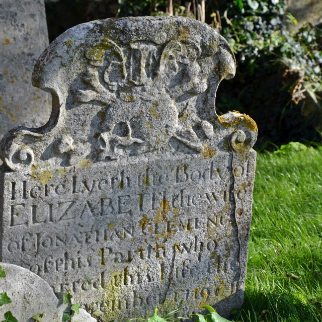"""Hockley Skull and Cross Bones Grave"" stock image"