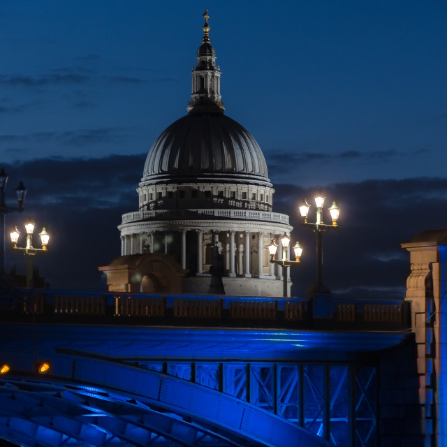 """The Dome of St Pauls Cathedral"" stock image"