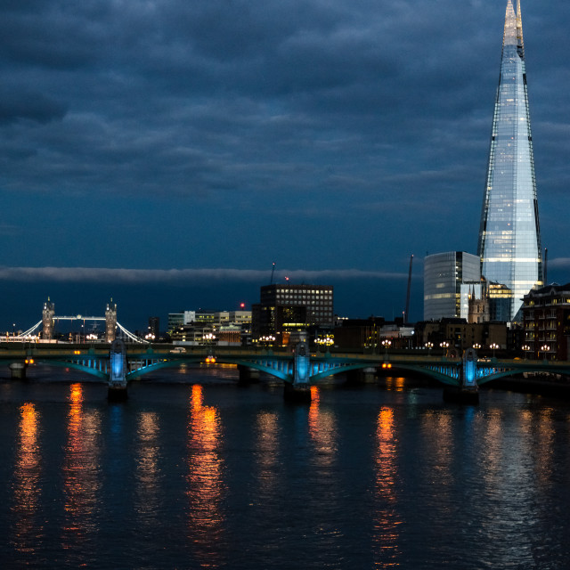 """The Shard and Tower Bridge"" stock image"