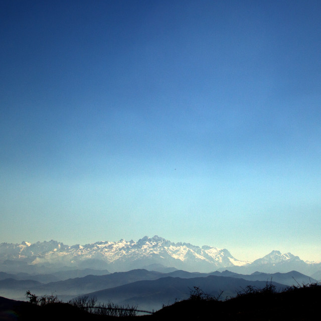 """The Picos de Europa from Anayo"" stock image"