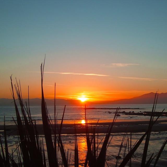 """Sunset over Isle of Arran"" stock image"